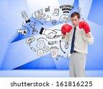 composite image of businessman... | Shutterstock . vector #161816225