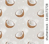 seamless pattern with coconuts... | Shutterstock .eps vector #1618172728