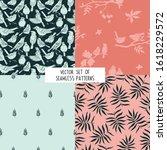 vector set  seamless  patterns... | Shutterstock .eps vector #1618229572