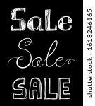 set of 3 chalk sale...   Shutterstock .eps vector #1618246165