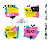 text boxes collection   set of... | Shutterstock .eps vector #1618288702