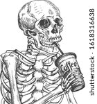 vector illustration of dead... | Shutterstock .eps vector #1618316638