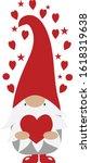 valentine gnome   love gnome    ... | Shutterstock .eps vector #1618319638