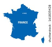blue map of france | Shutterstock .eps vector #161835428