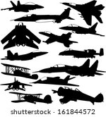 military airplanes collection 1 ... | Shutterstock .eps vector #161844572
