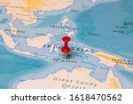 A Red Pin On Timor Leste Of The ...