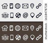 set 4 icon communication design ...   Shutterstock .eps vector #1618478728