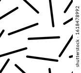 black strokes on white... | Shutterstock .eps vector #1618478992