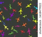 seamless pattern with colorful... | Shutterstock .eps vector #1618479022