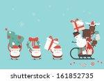 christmas cartoon background ... | Shutterstock .eps vector #161852735