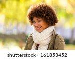 autumn outdoor portrait of... | Shutterstock . vector #161853452