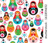 seamless retro russian doll... | Shutterstock .eps vector #161854652