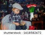 Sweet Toddler Boy  Wearing...