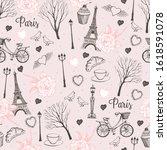 Graphic Romantic Pattern Paris...