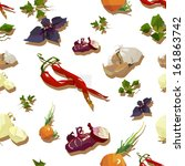 seamless background with food... | Shutterstock .eps vector #161863742