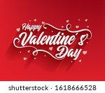 happy valentines day... | Shutterstock .eps vector #1618666528