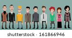 group cartoon business people | Shutterstock .eps vector #161866946