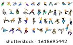vector silhouettes  set of men ... | Shutterstock .eps vector #1618695442