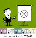 our goals. business... | Shutterstock .eps vector #161872442
