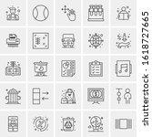 25 universal icons vector... | Shutterstock .eps vector #1618727665