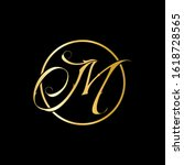 m letter logo with nice black... | Shutterstock .eps vector #1618728565