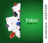 vector poker background with... | Shutterstock .eps vector #161874185