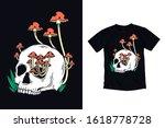 skull with mushroom... | Shutterstock .eps vector #1618778728