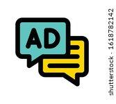 advertisement related written... | Shutterstock .eps vector #1618782142