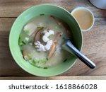 thai porridge whit fish ... | Shutterstock . vector #1618866028
