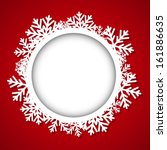 Christmas Round Frame With...