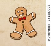 Gingerbread Man. Cute Christma...