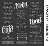 chalkboard calligraphy menu... | Shutterstock .eps vector #161892206