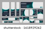 set of creative web banners of... | Shutterstock .eps vector #1618929262