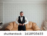 young and handsome groom... | Shutterstock . vector #1618935655