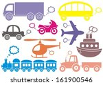 colorful means of transport...   Shutterstock .eps vector #161900546