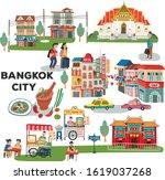bangkok city elements concept... | Shutterstock .eps vector #1619037268