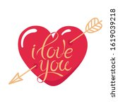 tattoo i love you. heart... | Shutterstock .eps vector #1619039218