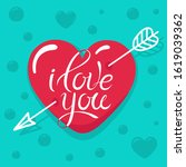 valentines day card with... | Shutterstock .eps vector #1619039362