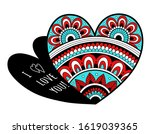 valentines day card. openwork... | Shutterstock .eps vector #1619039365