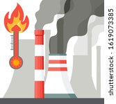 global warming. the increase in ... | Shutterstock . vector #1619073385
