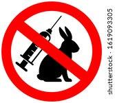 No Animal Testing Vector Sign...