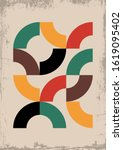 mid century modern background ...   Shutterstock .eps vector #1619095402