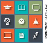 education flat icons for web...