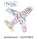 vector passport stamps in the... | Shutterstock .eps vector #161915825