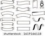 set of sketch ribbon template.   Shutterstock .eps vector #1619166118