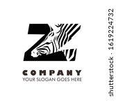 Zebra Art Illustration Logo...