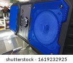 Blue sounder  in technical store