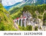Landwasser viaduct in summer ...