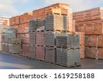 Pallets With Bricks In The...
