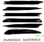 set of grunge paint brush stroke | Shutterstock .eps vector #1619290915